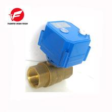 Robinet à tournant sphérique électrique de 2 voies de 9-24v dn25 dn32 CWX-25s avec l'actionneur de moteur pour l'eau glacée