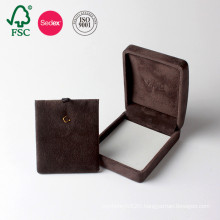 Hot Sale Custom Cardboard Gift Paper Flocked Jewelry Box
