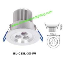 3W LED de luz LED Downlight LED de luz de techo