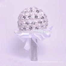 La perla cristalina rebordea el ramo hermoso artificial de la boda de las ventas al por mayor