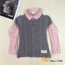आस्तीन स्वेटर ड्रेस में बेबी लड़कियों के लिए कटौती