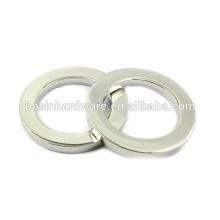 Moda de alta qualidade Metal Silver Flat Ring O