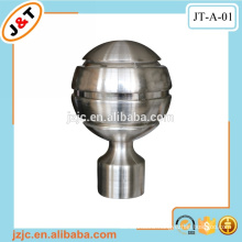 flexible double metal curtain rod with round ball finials hot sale in the UK