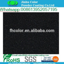 Peinture électrostatique au poudre polyester métallique noir en poudre