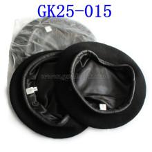 Black Wool Military Beret Made of Wool
