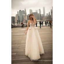 Strapless A Line Evening Dress Bridal Wedding Gown