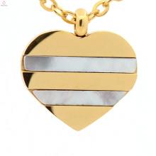 Mais recente boa qualidade ouro prata coração jóias encantos pingente para as mulheres
