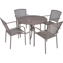 Outdoor furniture 5pc iron netting dining set