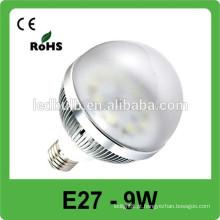 Alto brilho 9w Material de alumínio Epistar E27 base levou luz spot