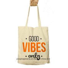 Custom White Promotional Reusable Cotton Shopping Bag