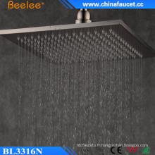 Beelee Ss304 brossé 9mm 12 '' pluie filtrée cascade de pluie cascade
