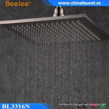 Beelee Ss304 Brushed 9mm 12′′ Filtered Rainfall Waterfall Shower Head