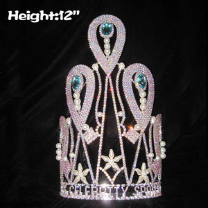12in Unique Pageant Crowns With Pearls
