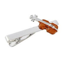Brown Violin Tie Bar For Orchestra Viola