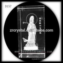 Crystal Buddha 3D Laser gravure cristal