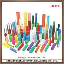 plastic cylinderical sewing bobbin storage