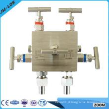 Válvula e atuador de 5 vias de aço inoxidável