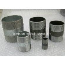 Black e galvanizado de aço carbono Pipe Nipple