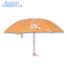 Thank You Wedding Gifts For Guests Shinning Pearl Finished Fabric Fold Multi Color Umbrella Mini Travelling Wholesale Umbarella