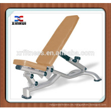nombres de equipos de gimnasia / máquina de construcción de cuerpo / entrenador de gimnasio integrado XR-9937 banco abdominal ajustable
