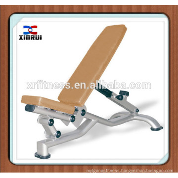 gym equipment names/body building machine/ Integrated gym trainer XR-9937 adjustable abdominal bench