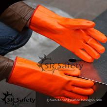 SRSAFETY Orange heavy duty chemical resistant pvc gloves