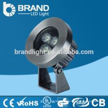 IP68 Alta calidad 3 * 3W RGB 3 en 1 luz de la piscina de 9W DMX512 LED, CE RoHS