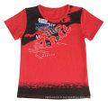 Lettre de lavage de neige impression bébé enfants T-Shirt en vêtements pour enfants avec coton qualité Sqt-616