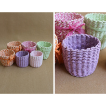 (BC-RB1013) Mini Good-Looking Paper Rope Basket
