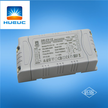 12w Plastic 0/-10V/1-10V Dimmable Led Driver