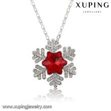 43219 moda charme folha cristais de colar de pingente de jóias swarovski