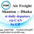 Shantou Air Freight Logistics Agent to Dhaka