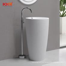 Sanitary Ware Sink Resin Stone Basins Bathroom Pedestal Basin