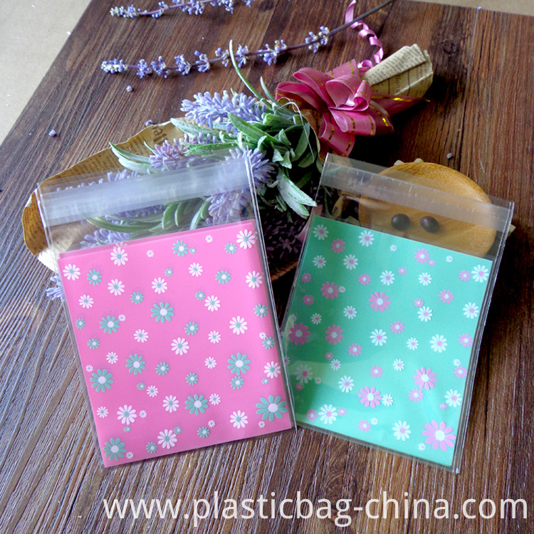 400pcs-10x11-3cm-Hot-Pink-and-Green-font-b-Flower-b-font-Self-adhesive-Food-Packing
