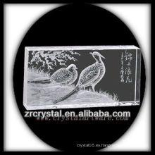 Intaglio de cristal hecho a mano K9 con animales