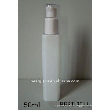 50мл белого листового стекла распылитель и насос стеклянная бутылка с пластичной/алюминиевой крышкой