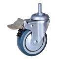 4 inch thread stem caster for hospital bed