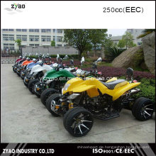 12inch Alloy Rad Quad mit EEC Approved 250ccm Wassergekühlter Motor ATV Reverse Gear