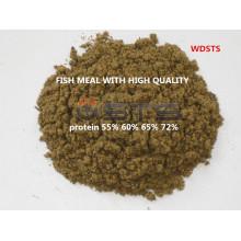 Refeição de peixe de ração animal para gado de galinha (65% de proteína)
