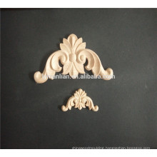 wood moulding engraved wooden applique for furniture  decorative furniture appliques