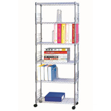 Verstellbarer Chrom-Metall-Buch-Rack / Buch-Fall (CJ-B1052)