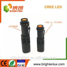 Utilisation tactique d'urgence la plus vendue Petite taille Matériau en aluminium Le plus puissant Dimmer Zoom 3w Mini torche à lumière forte