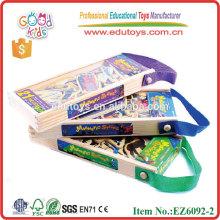 Kundenspezifischer Kühlschrankmagnet Beliebt 21pcs Verkehr hölzerner Magnetspielwaren