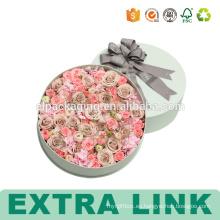 Papel de embalaje de impresión personalizada Caja de flor redonda