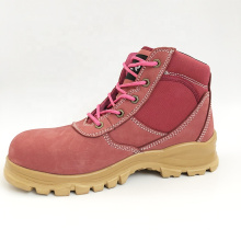 Fashionable Brand Name Steel Toe Pink Safety Shoes Women Manufacturer Safety Shoes