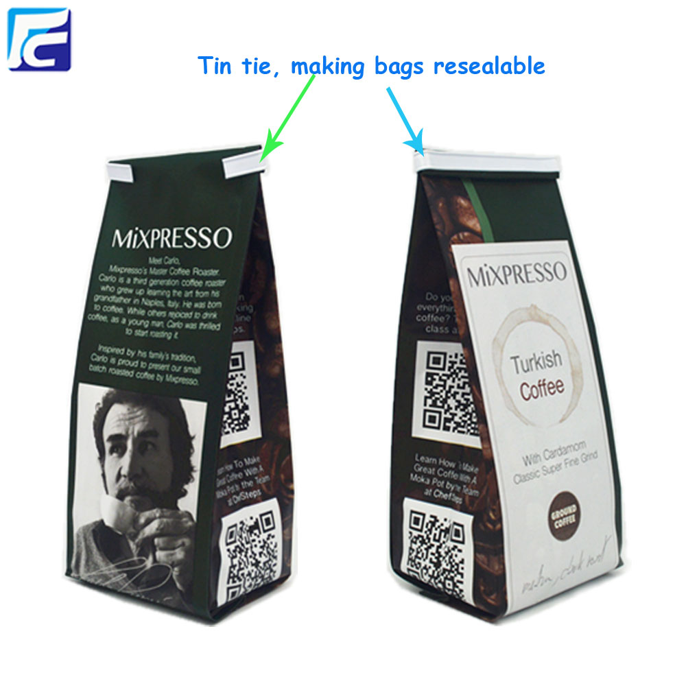 custom printed coffee bag