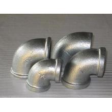 Acabamento de tubo de ferro maleável dobrado 90 °