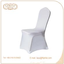Buena calidad material color blanco y rojo cubierta de silla banqet