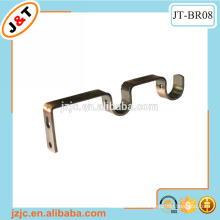 metal curtain rod double wall bracket