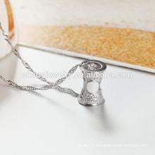 Collar de plata del estilo 925 de la manera al por mayor 2016 hecho en el producto SCR003 de la fábrica de China